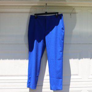 Cobalt Blue Cigarette Pants